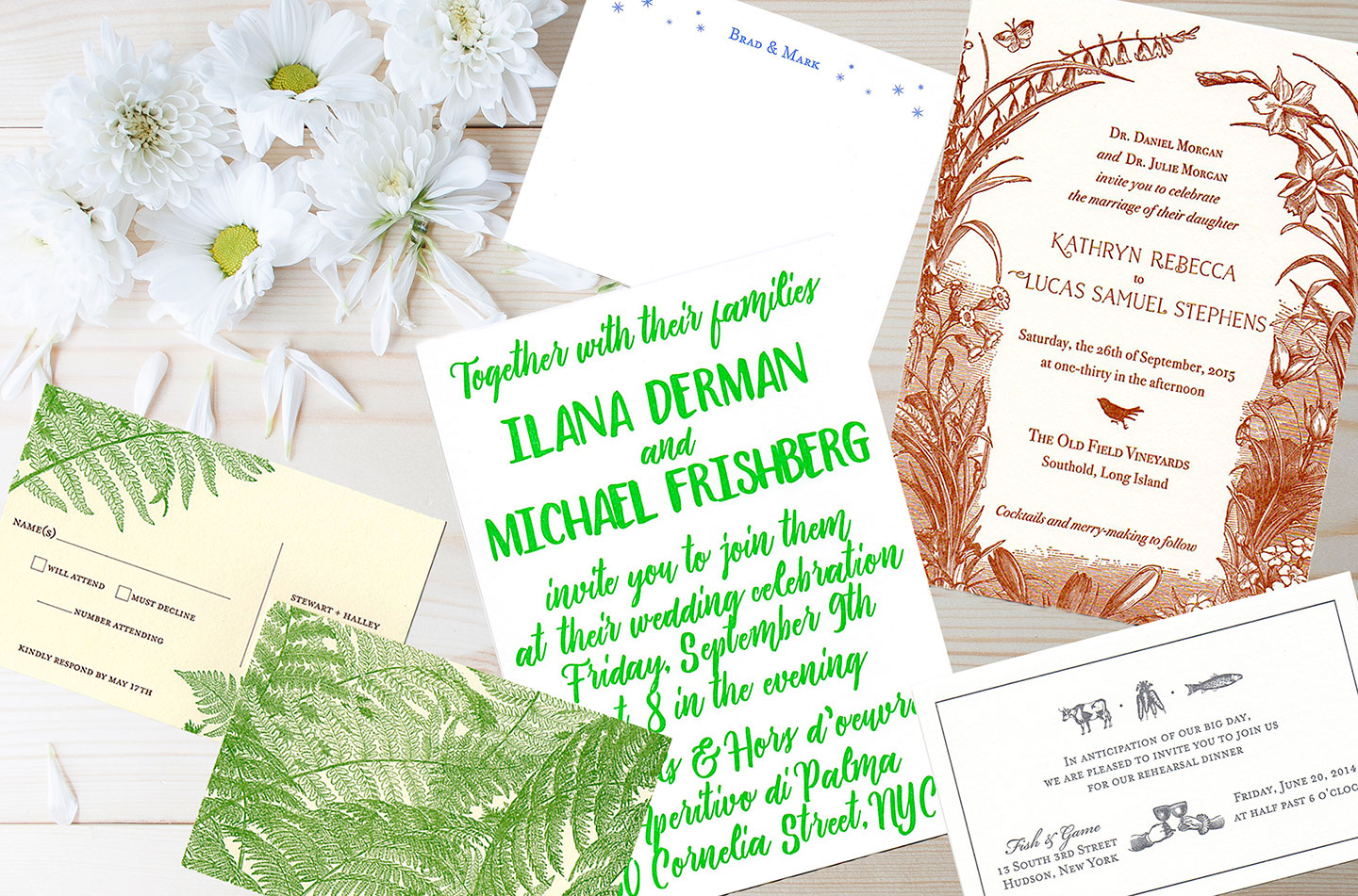 New York City Letterpress Wedding