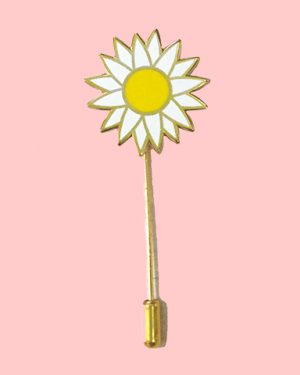 Daisy enamel pin stick pin flower