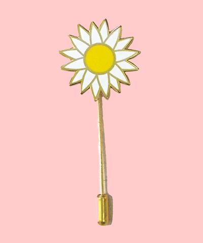 Daisy enamel pin stick pin flower