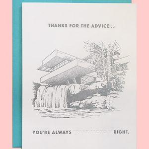 Frank Lloyd Wright Thank You Letterpress Card