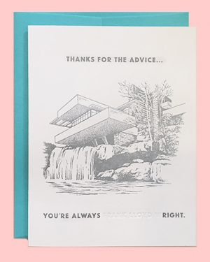Frank Lloyd Wright Thank You Letterpress Card