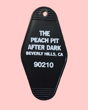 Peach pit after dark key tag