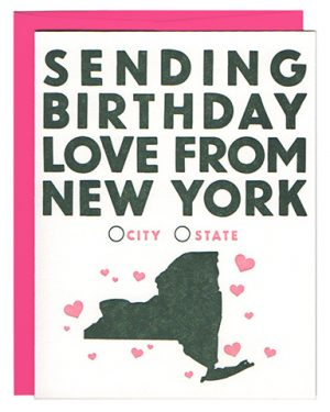 birthday love new york city letterpress
