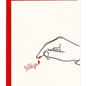 Amy Sedaris Letterpress Greeting Card