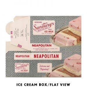 VINTAGE ICE CREAM BOX