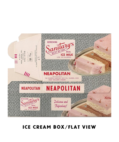 VINTAGE ICE CREAM BOX