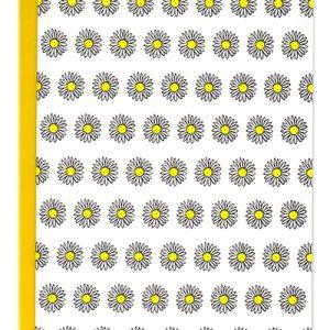 Daisies letterpress pattern card