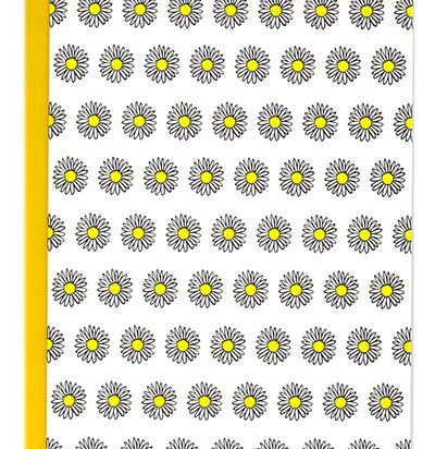 Daisies letterpress pattern card