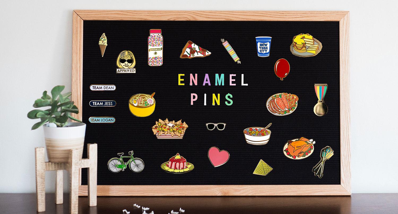 Greenwich Letterpress Enamel Pins