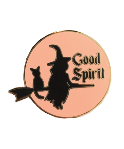 witch spirit enamel pin