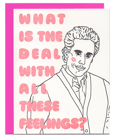 seinfeld jerry love card letterpress