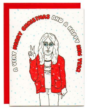 Greenwich Letterpress Lennon Christmas Card Letterpress