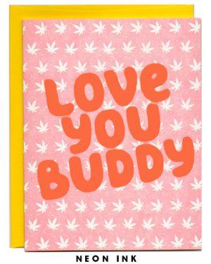weed pot love letterpress card