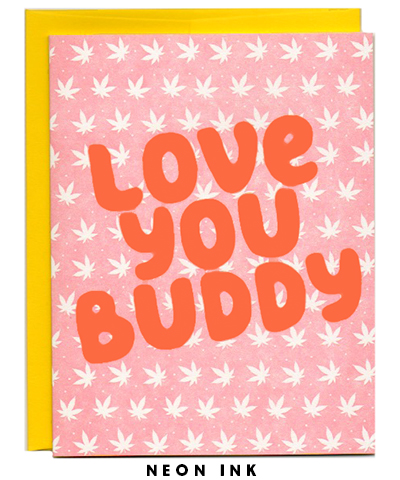 weed pot love letterpress card
