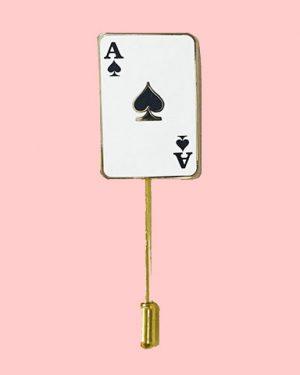 ace of spades enamel pin