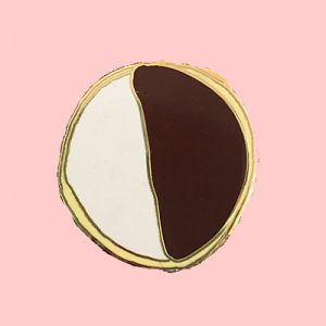 Black and White Cookie Enamel Pin New York City