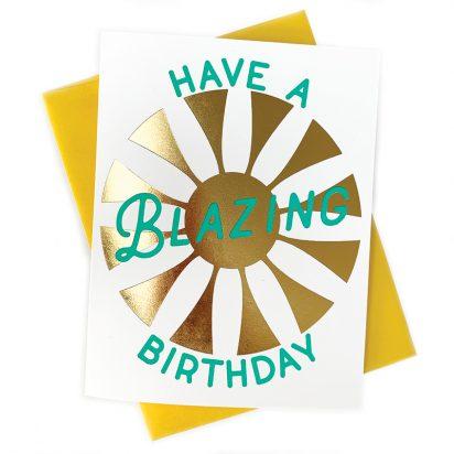 Blazing Birthday Card Letterpress