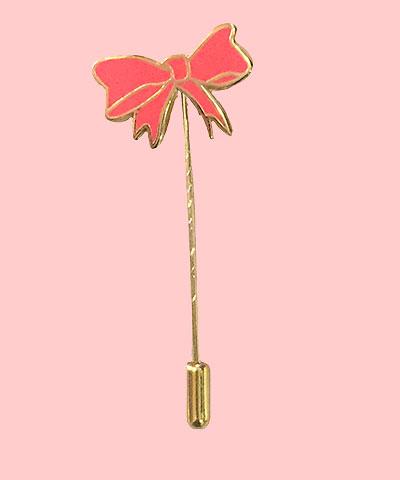 bow enamel pin stick pin