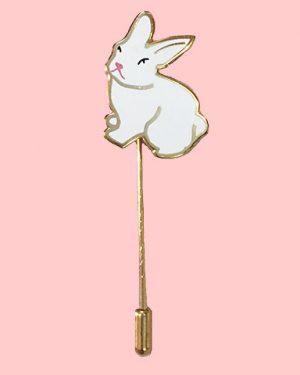 bunny rabbit enamel pin
