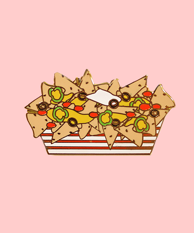 nachos enamel pin