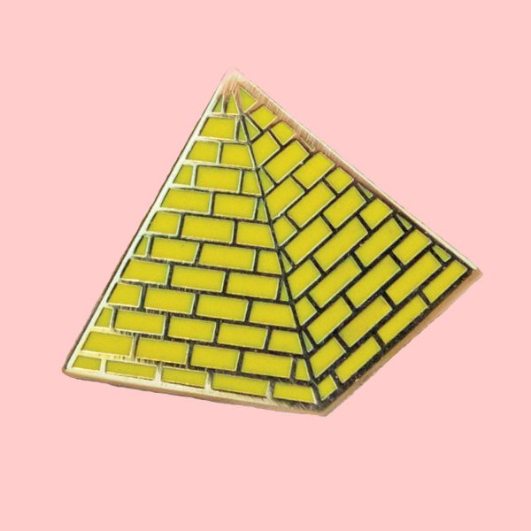 pyramid enamel pin