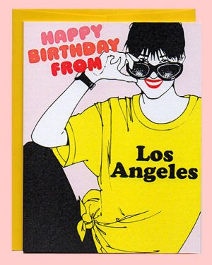 Happy Birthday from LA Birthday Card