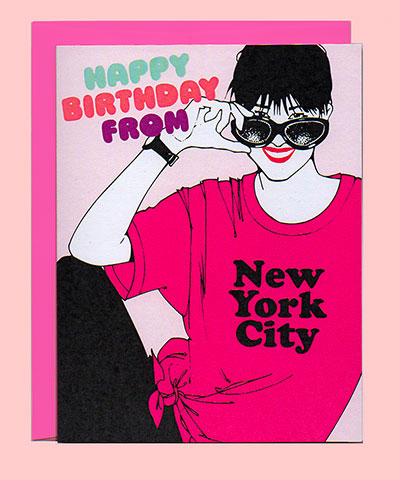 Happy Birthday From New York City Greenwich Letterpress
