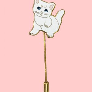 kitten stick pin enamel pin cat