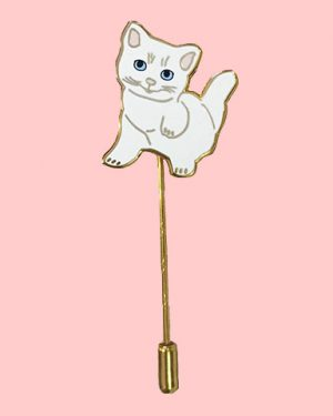 kitten stick pin enamel pin cat