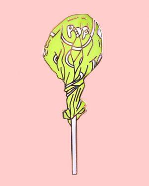 Lollipop Enamel Pin