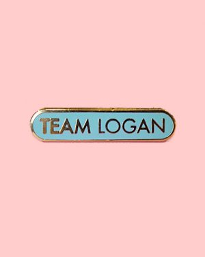 team logan enamel pin gilmore girls