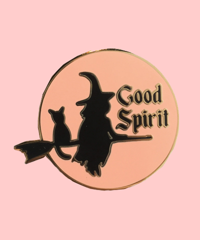 witch good spirit enamel pin good vibes
