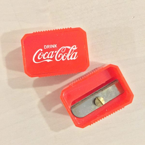 coca cola sharpener detail