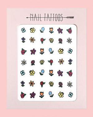 Floral Nail Tattoos