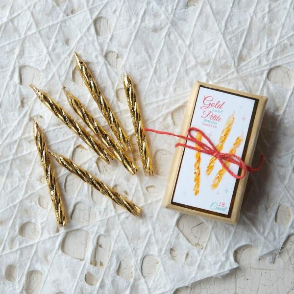 GOLD PETITE PARTY CANDLES