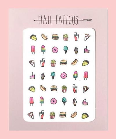 Junk Food Nail Tattoos