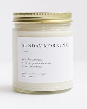 Sunday Morning Candle Brooklyn