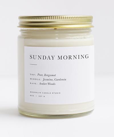 Sunday Morning Candle Brooklyn