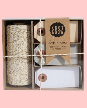 NEUTRAL TAG and TWINE BOX
