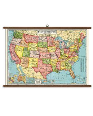 United States Vintage School Chart
