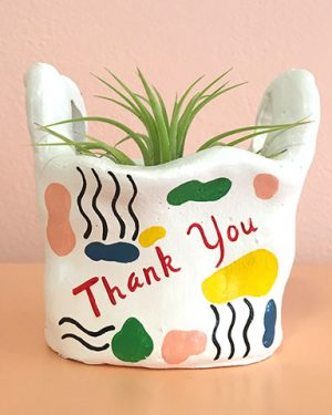 90's Thank You Bag Planter