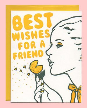 Best Wishes Letterpress Friendship Card