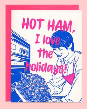 Hot Ham Letterpress Holiday Card