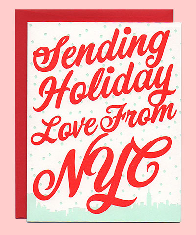 Sending Holiday Love from NYC