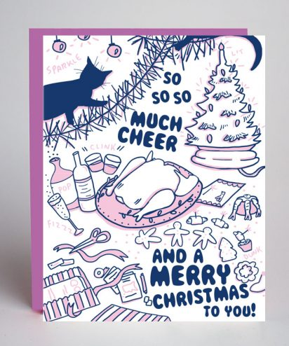 Cat Holiday Card Greeting Card