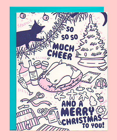 So Much Cheer Letterpress Holiday Card