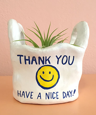 Thank You Bag Planter