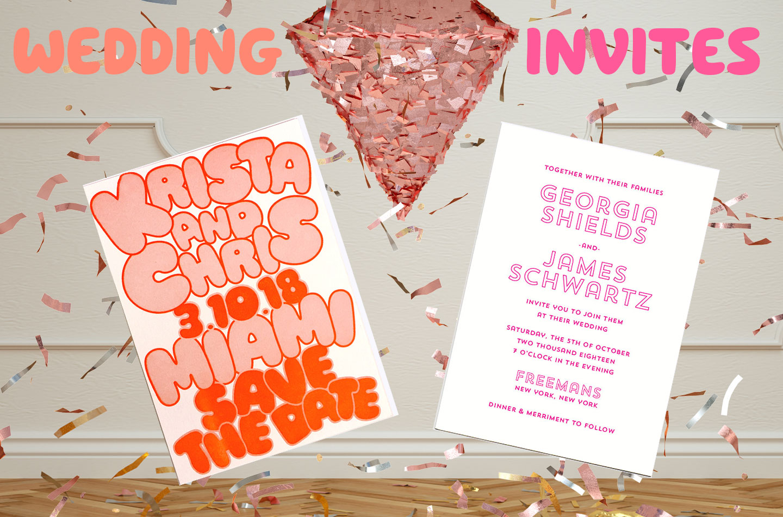 Custom Letterpress Wedding Invitations - Greenwich Letterpress