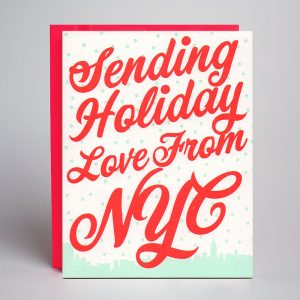 New York City Letterpress Holiday Card