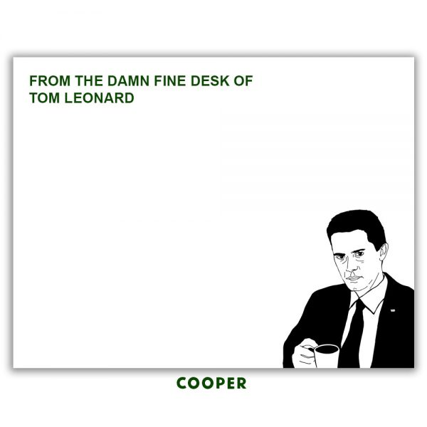 agent cooper stationery